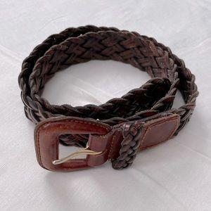 Talbots Vintage Braided Leather Belt